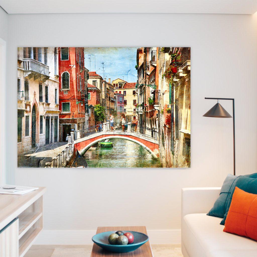 Miasto-obraz na płótnie canvas